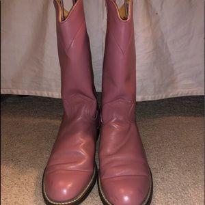 Shoes - Pink cowboy boots